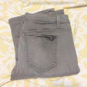 Joe's Grey Micro Flare Skinny Mid rise Jeans